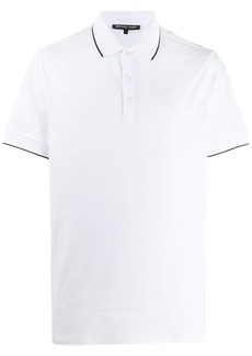 Michael Kors short sleeve contrast trim polo shirt