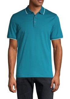 Michael Kors Short-Sleeve Cotton Polo