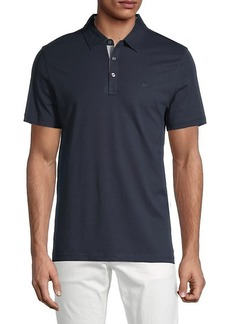 Michael Kors Short-Sleeve Cotton Polo