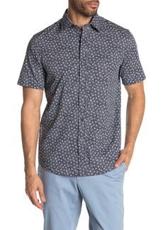 Michael Kors Short Sleeve Rose Print Classic Fit Shirt