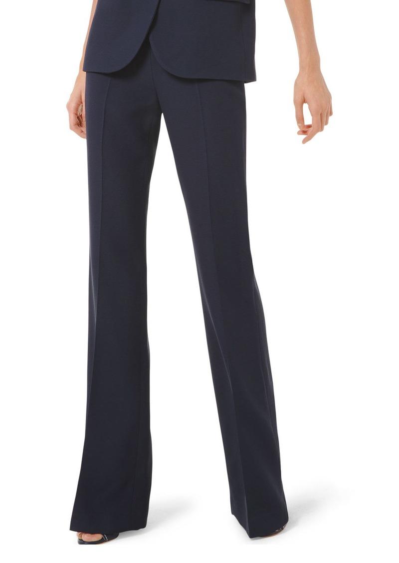 Michael Kors Side Zip Crepe Flare Pants