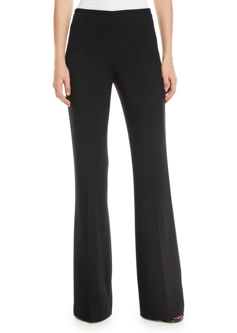 Michael Kors Side-Zip Flare-Leg Crepe Pants
