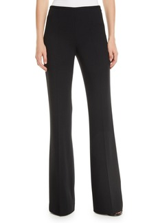 Michael Kors Side-Zip Flare-Leg Crepe Pants