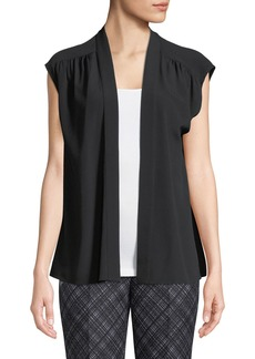 Michael Kors Silk Cap-Sleeve Wrap Blouse