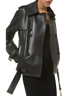 Michael Kors Silk Double-Breasted Trench Coat
