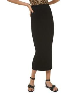 Michael Kors Silk Knit Midi Pencil Skirt