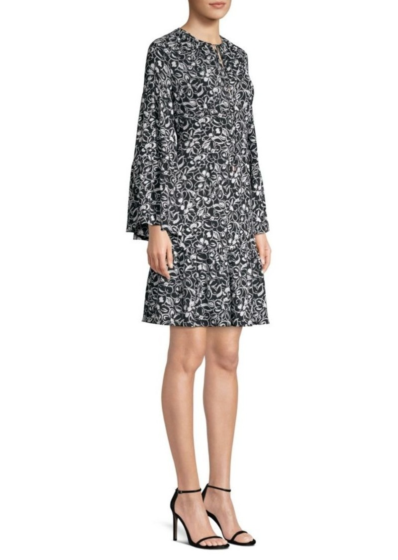 Michael Kors Silk Peasant Dress