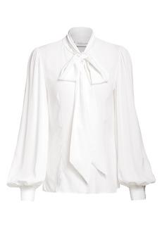 Michael Kors Silk Pussybow Blouse