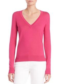 Michael Kors Silk V-Neck Sweater