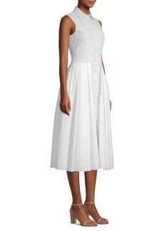 Michael Kors Sleeveless Eyelet Shirt Dress