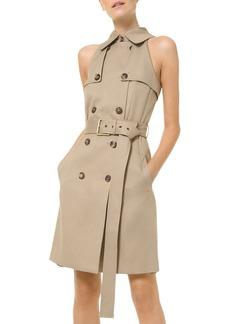 Michael Kors Sleeveless Trench Shift Dress