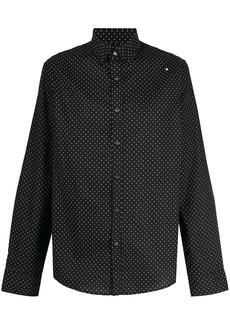 Michael Kors slim-fit dotted shirt