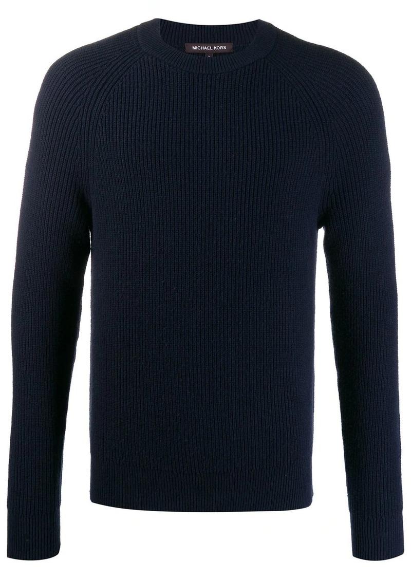 Michael Kors slim-fit ribbed jumper
