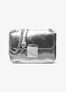 Michael Kors Sloan Editor Medium Embossed-Leather Shoulder Bag