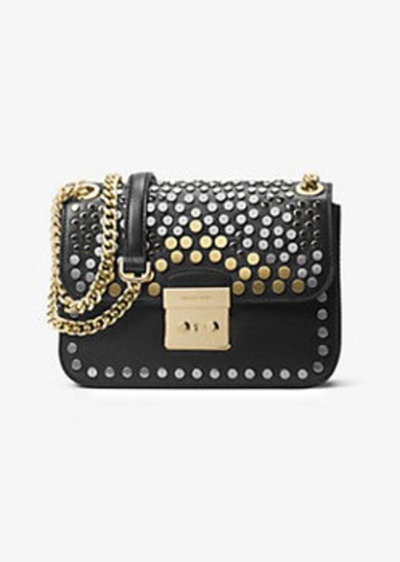 3cc4a3725d43d SALE! Michael Kors Sloan Editor Medium Studded Leather Shoulder Bag