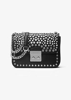 Michael Kors Sloan Editor Medium Studded Leather Shoulder Bag
