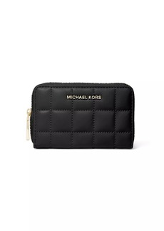 Michael Kors Small Jet Set Quilted Leather Card Case
