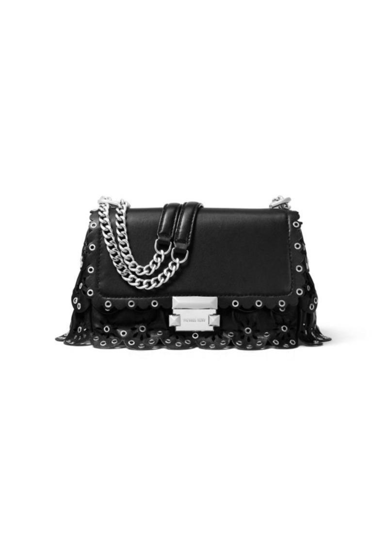b815b51240f7 Michael Kors Small Sloan Chain Leather Shoulder Bag Now $243.60