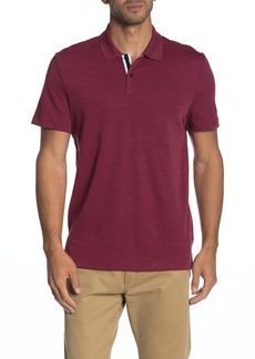 Michael Kors Solid Slub Knit Polo