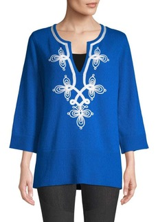 Michael Kors Soutache Embroidered Tunic