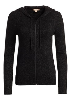 Michael Kors Sparkle Lurex Knit Zip-Up Hoodie