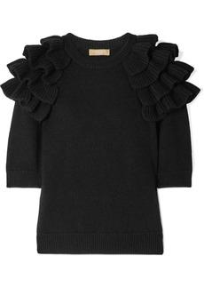 Michael Kors Starlet Ruffled Cashmere Sweater
