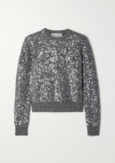Michael Kors Starlet Sequined Wool-blend Sweater
