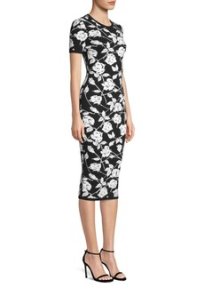 Michael Kors Stencil Rose Jacquard Sheath Dress