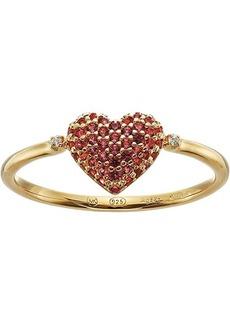 Michael Kors Sterling Silver Heart Ring