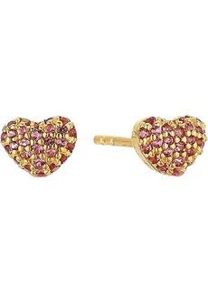Michael Kors Sterling Silver Heart Stud Earrings