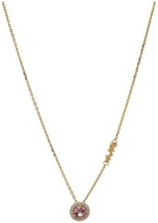 Michael Kors Sterling Silver Pave Halo Necklace