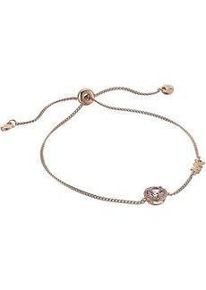 Michael Kors Sterling Silver Pave Halo Slider Bracelet