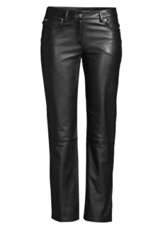 Michael Kors Straight Leg Leather Pants