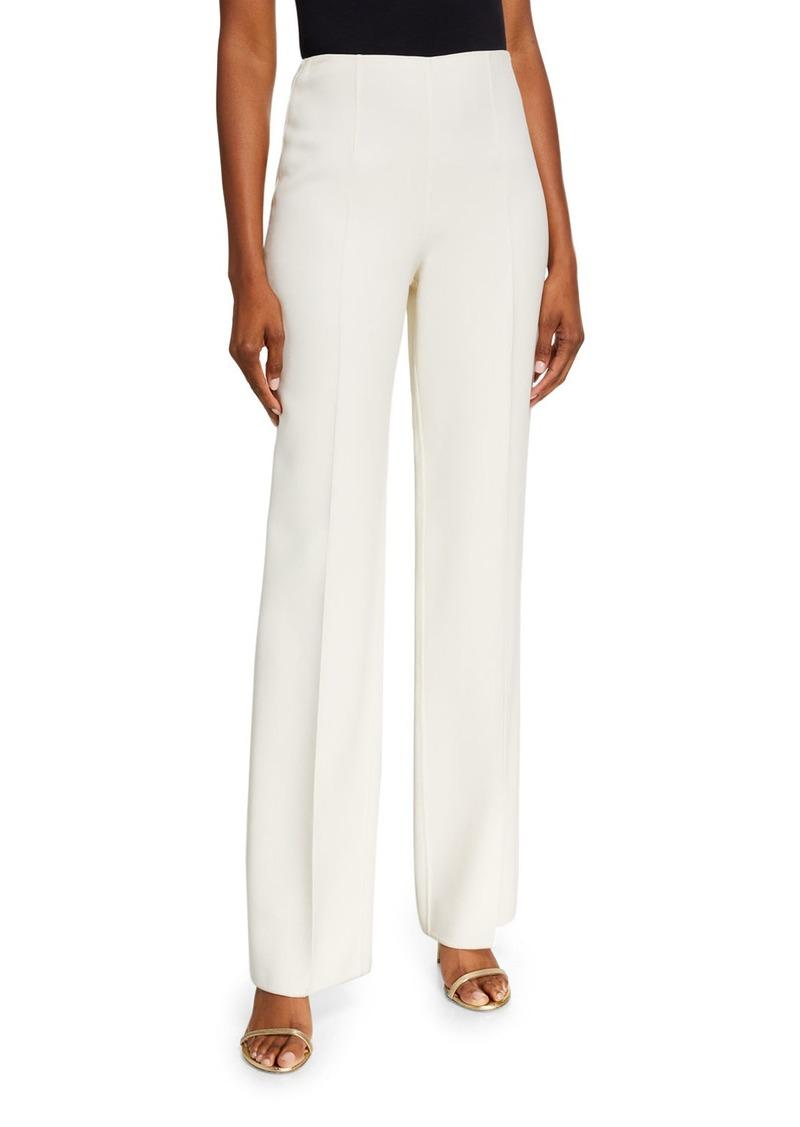 Michael Kors Straight-Leg Side-Zip Pants  White