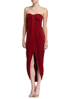 Michael Kors Strapless Silk Gown