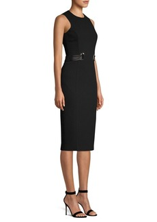 Michael Kors Stretch Bouclé Belted Sheath Dress