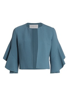 Michael Kors Stretch Bouclé Ruffle-Sleeve Jacket