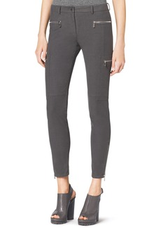 Michael Kors Stretch Zipper Skinny Cargo Pants