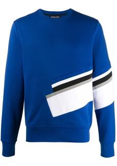 Michael Kors stripe detailed crew neck sweatshirt