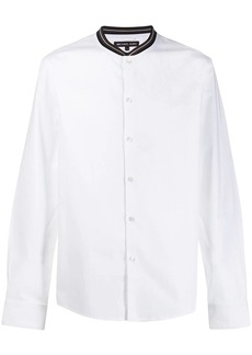 Michael Kors striped collar shirt