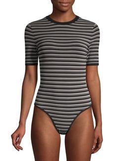 Michael Kors Striped Crewneck Bodysuit