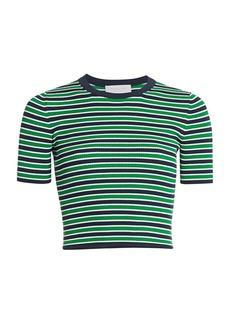 Michael Kors Striped Crop Sweater