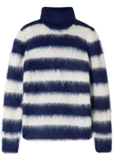 Michael Kors Striped Mohair-blend Turtleneck Sweater