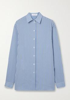 Michael Kors Striped Silk Crepe De Chine Shirt