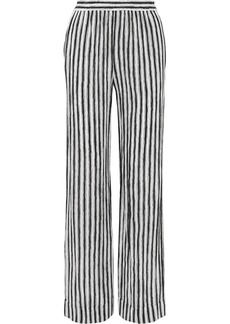 Michael Kors Striped Silk-crepe Wide-leg Pants