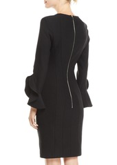 Michael Kors Studded Bell-Sleeve Crepe Dress