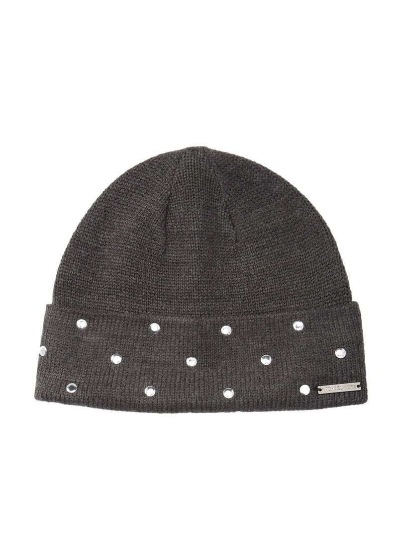 MICHAEL Michael Kors Studded Cuff Knit Beanie