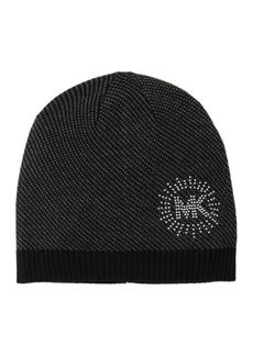Michael Kors Studded Logo Knit Beanie
