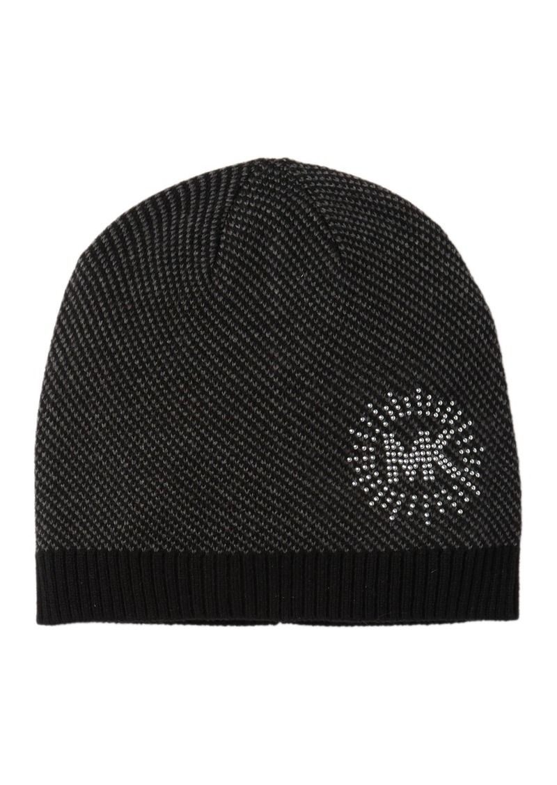 MICHAEL Michael Kors Studded Logo Knit Beanie