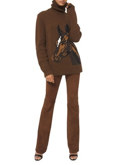 Michael Kors Suede Slim-Leg Jeans